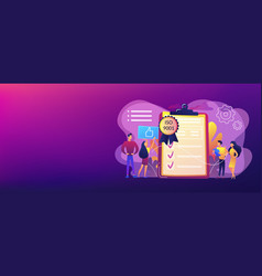 Standard for quality control concept banner header vector
