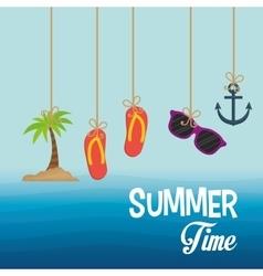 Summer time design Vacation icon Beach concept vector image