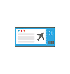 ticket on plane document vector image