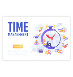 time business management landing page vector image