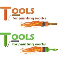 tools for painting works vector image