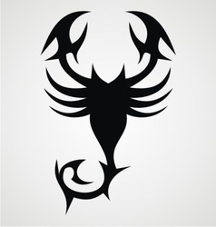 Tribal Black Scorpion vector image