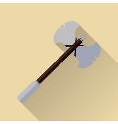 Two blade battle axe isolated Medieval Weapon vector