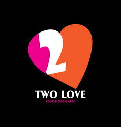 two love for valentine celebration vector image