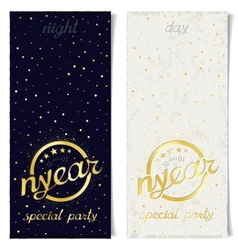 Two vertical ticket for new year special party vector