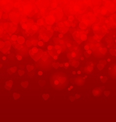 Valentines day Red hearts background vector