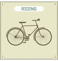 Vintage bike retro vector image