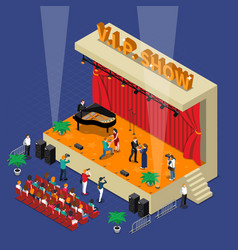 Vip show isometric design vector