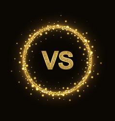 Vs glittering symbol in ring vector