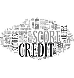 what does my credit score mean text word cloud vector image