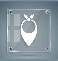 White cowboy bandana icon isolated on grey vector