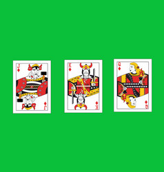 With the viking playing cards vector