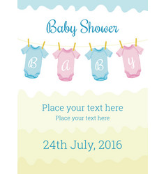 baby shower invitation card template vector image