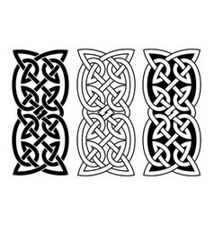 celtic national ornaments vector image