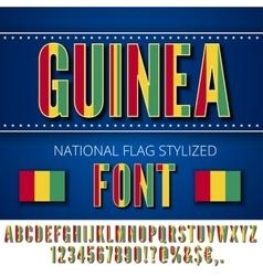 Guinea Flag Font vector image