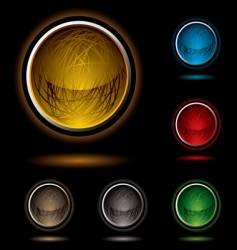 scribble button bright vector image vector image