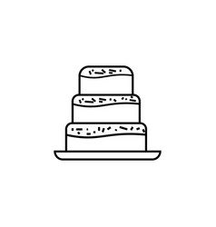 cake desert party cook icon vector image