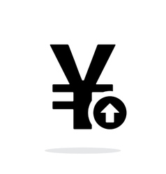 Chinese yuan exchange rate up icon on white vector image