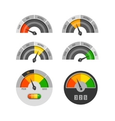 Credit score indicators set vector image