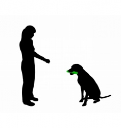 dog training obedience command hold vector image vector image