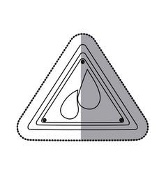 emblem drops gasoline icon vector image