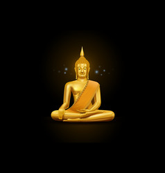 thai art budha and pattern vector image