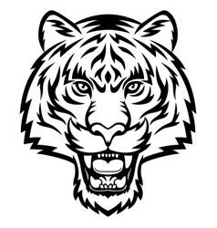 tiger head logo vector image