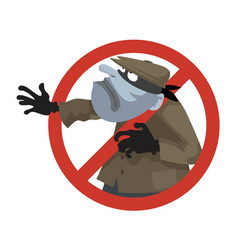 anti theft sign vector image vector image
