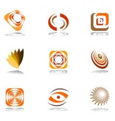 Design elements in warm colors vector