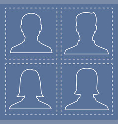 Profiles of people silhouettes vector