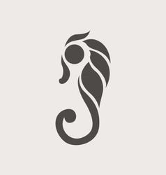 Seahorse Logo vector image