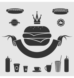 Symbol fast food set vector image vector image