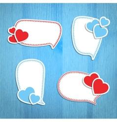 Valentine Day frames vector image vector image