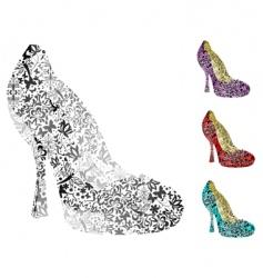 vintage shoes vector image