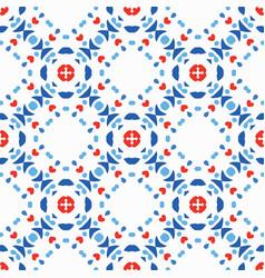 blue red pattern boho background vector image vector image