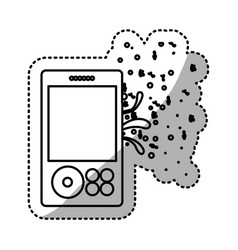 Music player icon stock vector