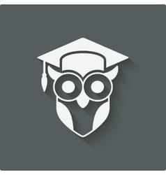 owl in graduation cap wisdom symbol vector image