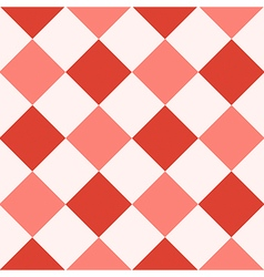 Red Fiesta White Diamond Chessboard Background vector image