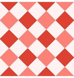 Red Fiesta White Diamond Chessboard Background vector image vector image