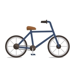 Side view of classic bicycle vector image