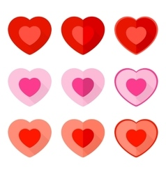 Valentine Flat Icon Heart vector image