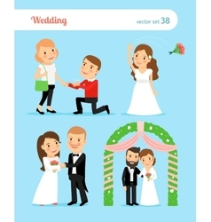 Wedding pictures Proposal of marriage vector image