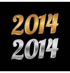 2014 Golden Silver vector image