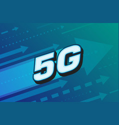 5g high speed internet technology vector image