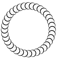 Abstract circular spiral element isolated vector