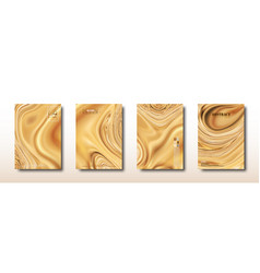 Abstract mixed light brown waves and swirls vector