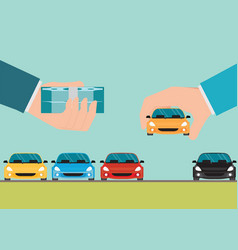 buying new car conceptual vector image