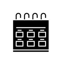 Calendar plans black icon concept vector