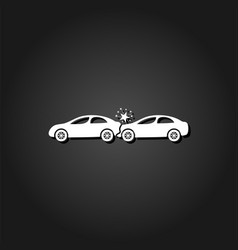 car accident icon flat vector image