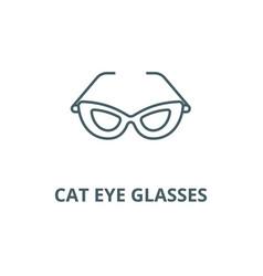 cat eye glasses line icon cat eye glasses vector image